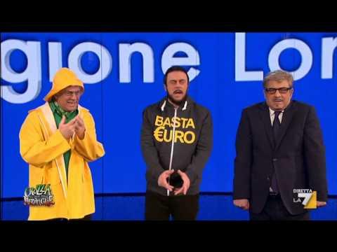 Crozza nel Paese delle Meraviglie – Crozza/Maroni de-veritizzato H24 incontra Bossi e Salvini