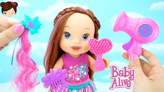 Baby Alive Muñeca Lindos Peinados Cristina - Muñeca para Peinar