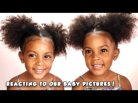 Reacting to our BABY PICTURES! (twin talk)