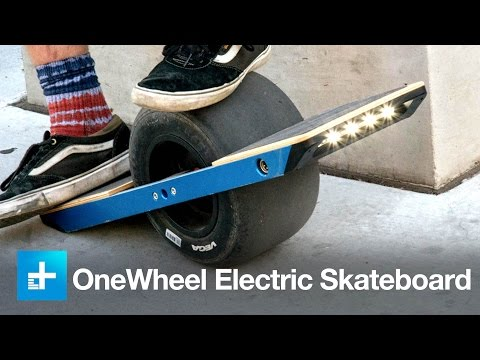 Carving concrete (and eating it) on the insane OneWheel electric skateboard - CES 2015