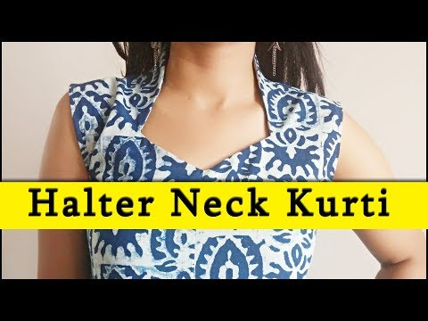 DIY Halter Neck Kurti Sewing (Step by Step) In Easy Way