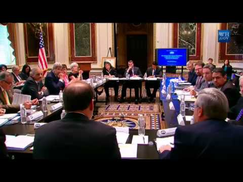 Secretary Kerry Attends the President's Task Force on Trafficking in Persons