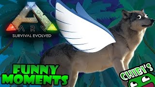 Ark Survival Evolved Funny Moments Ep.4 Biggest Dinosaur, Flying Wolf, Stretched Bodies!