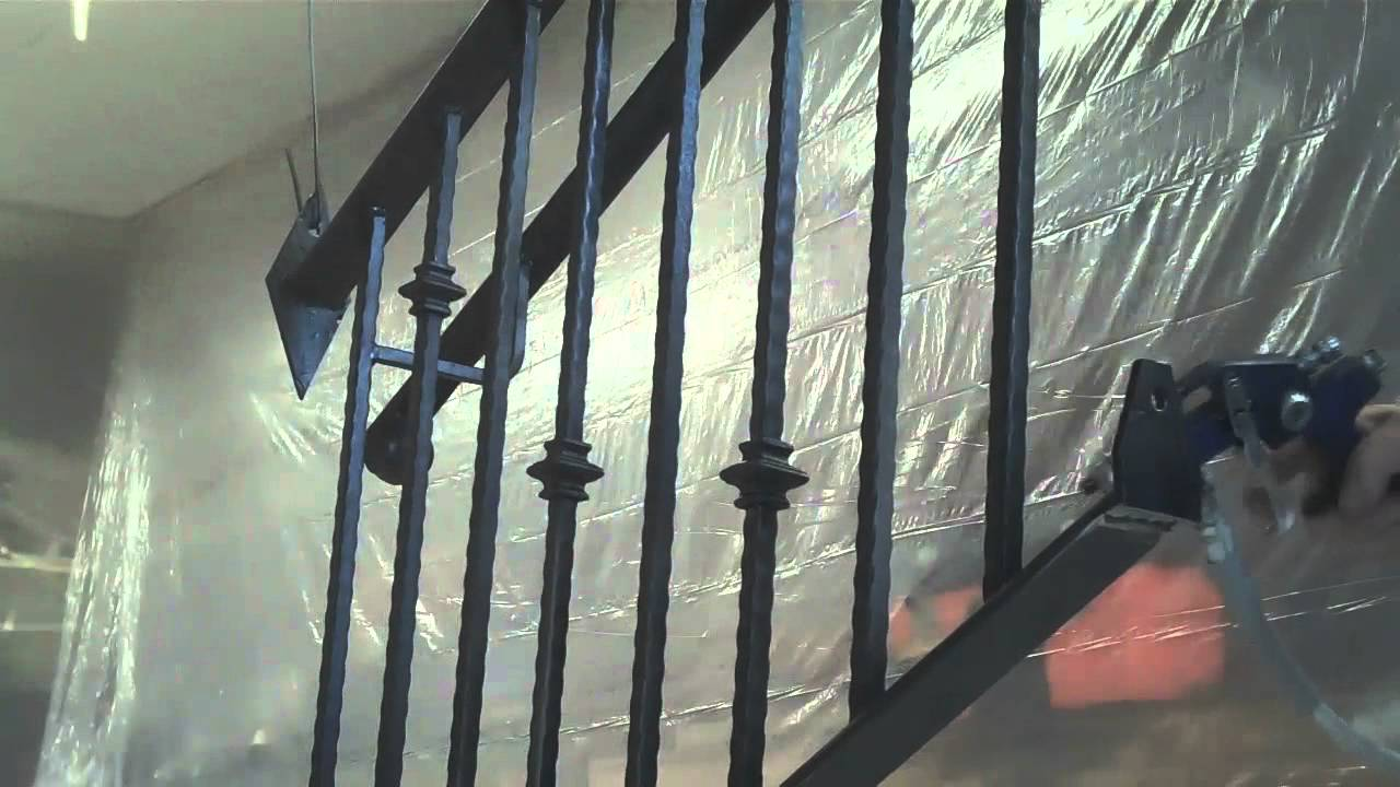 How To Paint A Black Wrought Iron Fence