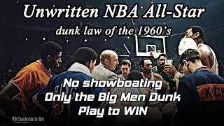 NBA All-Star Game dunks of the 1960's - prime Wilt Chamberlain, Bill Russell and more!