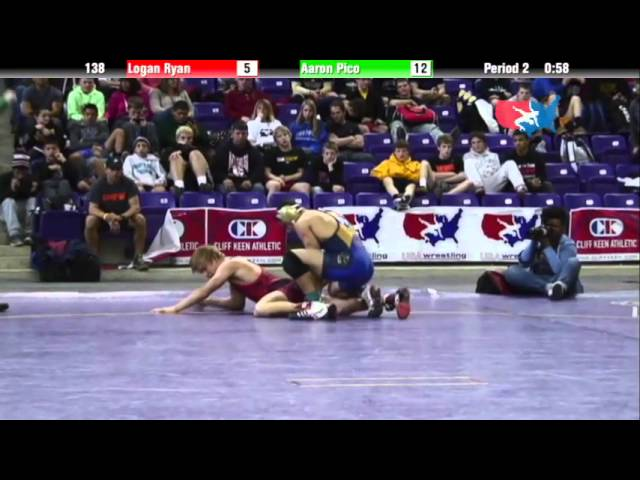 Junior 138 - Logan Ryan (Bettendorf) vs. Aaron Pico (California)