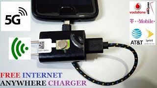 USING MOBILE CHARGER GET FREE INTERNET DATA AT HOME UNLIMITED IDEA