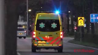 3x ambulance 20-143 met in tilburg