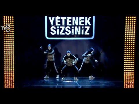 """İlkin, Tehran ve Rashad'ın Dans Gösterisi Yetenek Sizsiniz turkiye 07.11.2015 (""""Free Life"""" crew)"""