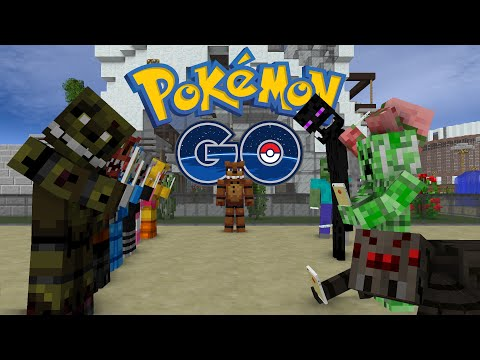 FNAF vs Mobs: Pokemon GO Challenge - Monster School (Five Nights At Freddy's)