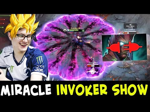 Miracle INVOKER SHOW — 4 vs 5 with LEAVER in team