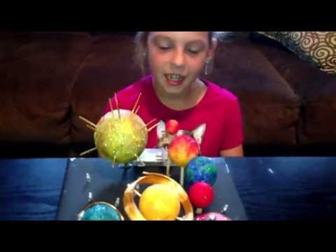 Jaime's budget friendly 3rd grade Solar System Project that lights up