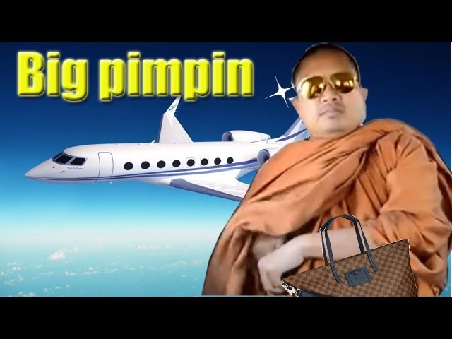Thai Buddhist monks in private jet are big pimpin