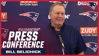 "Bill Belichick on Tom Brady: ""He's put in a lot of time, a lot of work"""