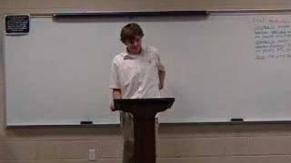 Boy Gives Terrible Speech