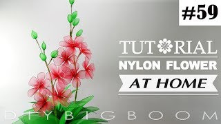 Nylon stocking flowers tutorial #59, How to make nylon stocking flower step by step