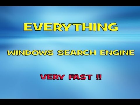 Everything (very fast search engine for Windows)