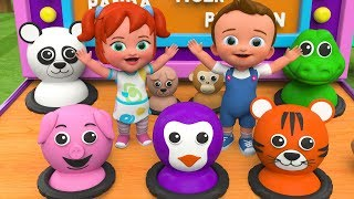 Animals Names for Kids to Learn with Little Babies Fun Play Animals Machine & Hammer Toy Set 3D Kids