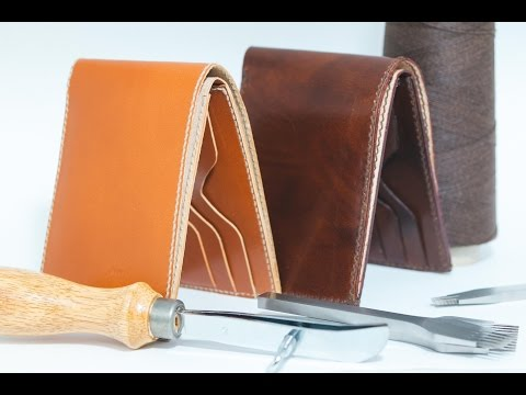 Making men 39 s half wallet leather craft how to make wallet for Crafts for men to make
