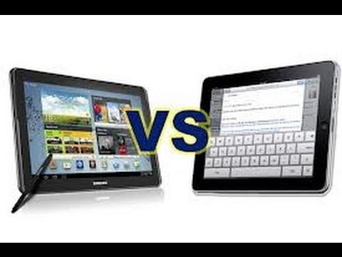 Samsung Galaxy Note 10.1 versus Apple nuevo iPad Comparación