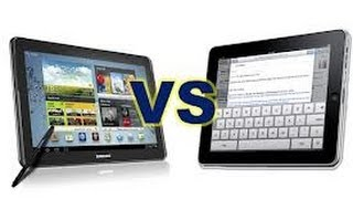 Samsung Galaxy Note 10.1 versus Apple nuevo iPad Comparacin