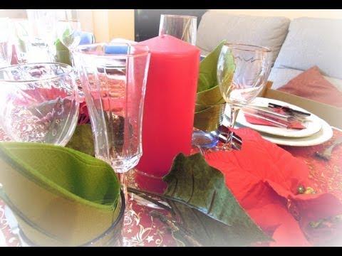 Dn9 c mo decorar la mesa para navidad youtube for Como decorar la mesa para navidad