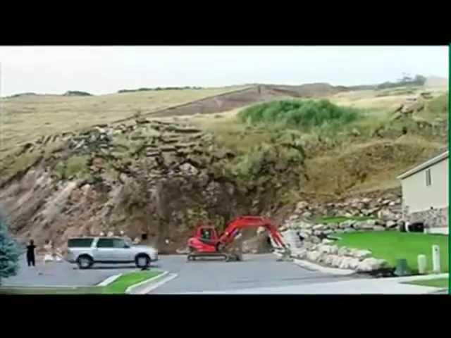VÍDEO   Captan Deslizamiento de Tierra en Salt Lake City USA   Agosto 2014.