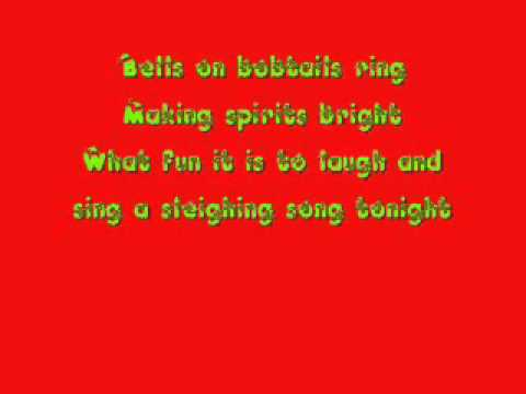 Glee Cast - Jingle Bells [Lyrics].wmv
