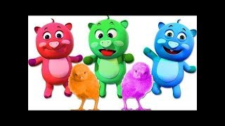 Học các màu cho trẻ em - Buồn cười Hoạt hình Động vật Ngón tay Gia đình Bài hát Vườn ươm Vần điệu
