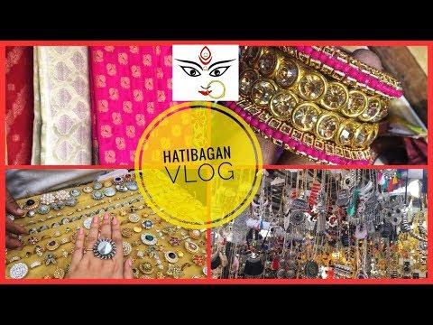 Kolkata Durga Puja Shopping 2018 |Shopping at Hatibagan Vlog | Deblina Rababi