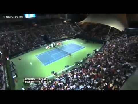 Roger Federer Magic Tweener Dubai 2014