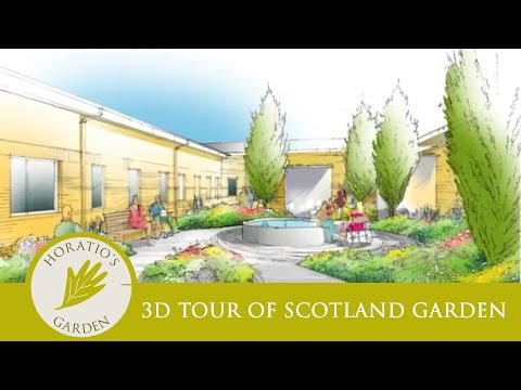 3D Tour of James Alexander Sinclair's designs for Horatio's Garden Scotland 2