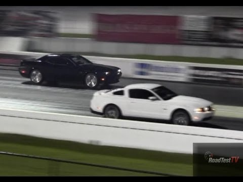 392 Challenger 6.4 Liter SRT8 vs Mustang GT 5.0 - Drag Race Video - Road Test TV