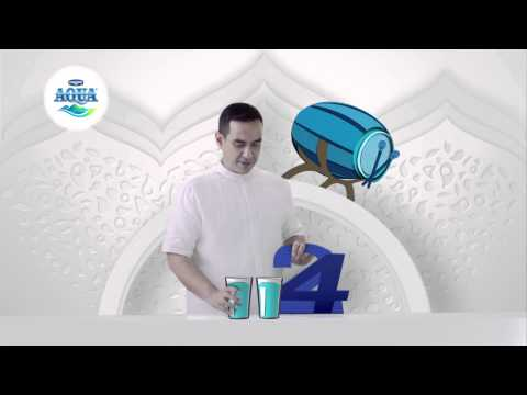 Minum Aqua 242 Aqua Ramadhan 242