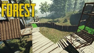 4 MUTANT ATTACKS, FINISHED THE WALL | The Forest | Let's Play Gameplay | S14E15