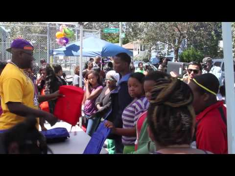 Giving Back: Mistah Fab Gives Away 1500 Backpacks To Kids In Oakland For School