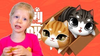 Играем в игру kitty in the box милая игра про котят.  Plays Kitty in the Box games