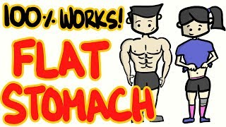 Best Way To A Flat Stomach - 100% Scientifically Proven Fat Stomach Tips!
