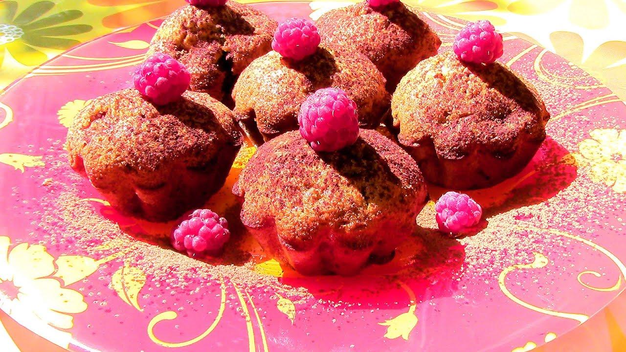 Шоколадный кекс с малиной рецепт