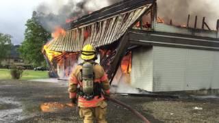 Roseburg Fire Dept. fire training