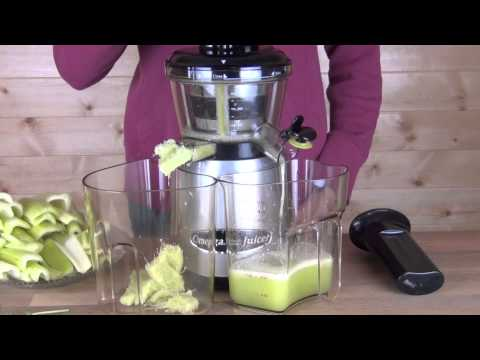 Best Masticating Juicer For Celery : Omega vRT400 HDS Upright Masticating Juicer Juicing Celery vRT400 Juice Extractor How To Save ...