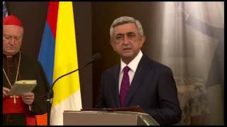 Naxagah Serj Sargsyani pashtonakan ayce Surb Ator - 19.09.2014