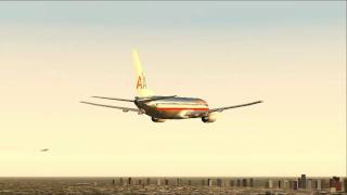 737 American Airlines Take off at KMDW - FS2004