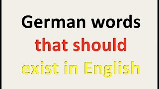 🇩🇪German words that should exist in English 🇺🇸