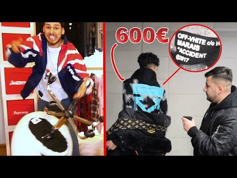 """DER 600€ """"OFF VHITE HOODIE 🤬 **ich zerstöre meinen Stuhl**"""