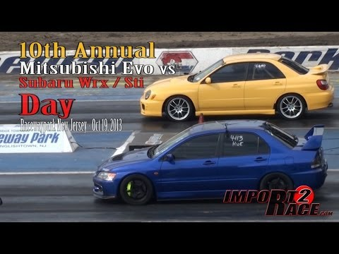 mitsubishi evo x fq360 vs subaru impreza wrx sti tbt. Black Bedroom Furniture Sets. Home Design Ideas