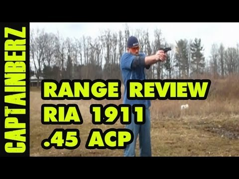 RIA 1911 .45 ACP Tactical Pistol Range Review