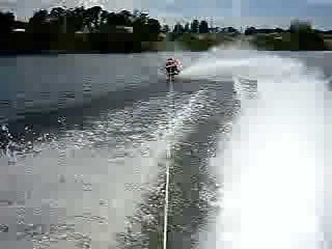Kneeboarding behind a jet ski Video