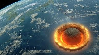 Detailed Simulation of Large Asteroid Hitting the Earth