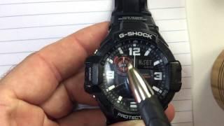Casio G-Shock ADJUST time hands (HD) Hidden menu digital + analog times match GShock aviator GA-1000